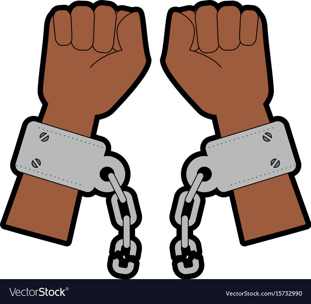 Hands with handcuffs icon.