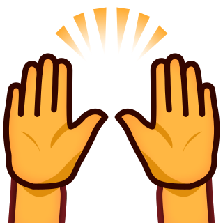 Raised Hands Clipart.