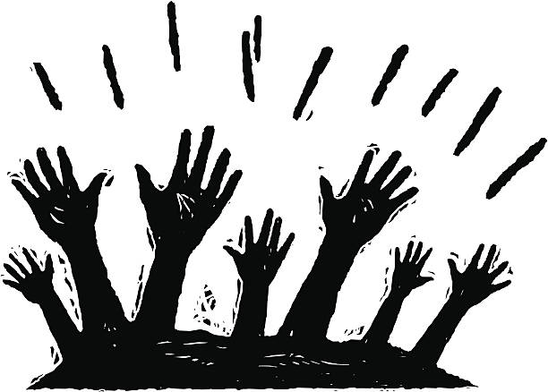 Best Worship Hands Raised Illustrations, Royalty.