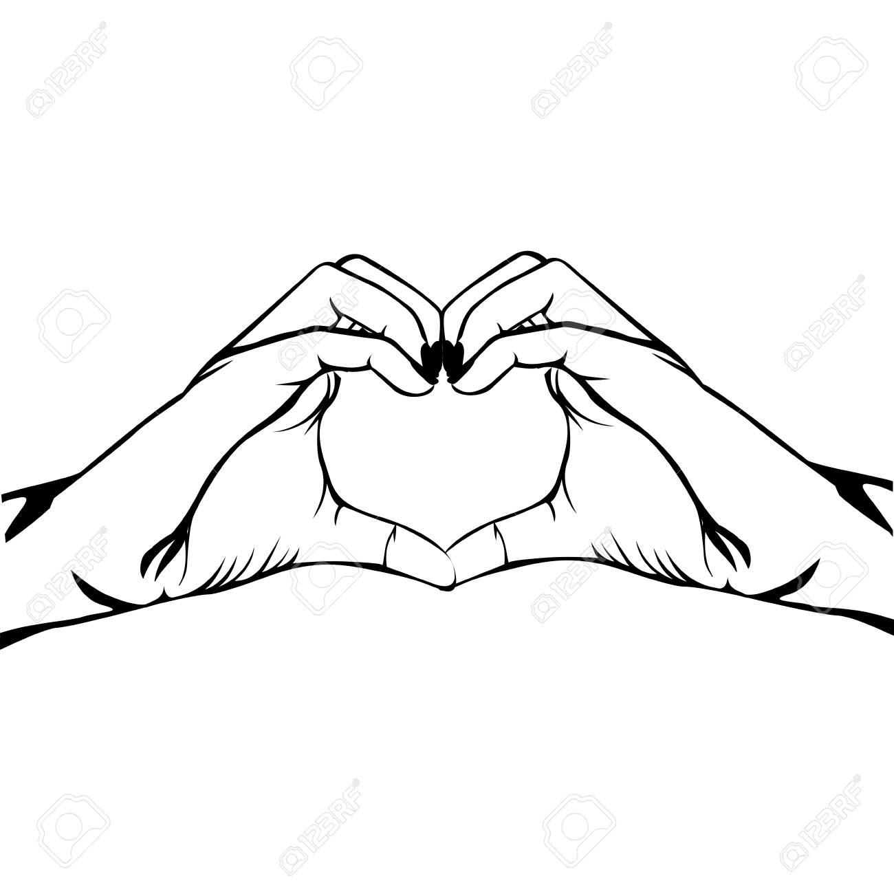hands making heart gesture image vector illustration design.