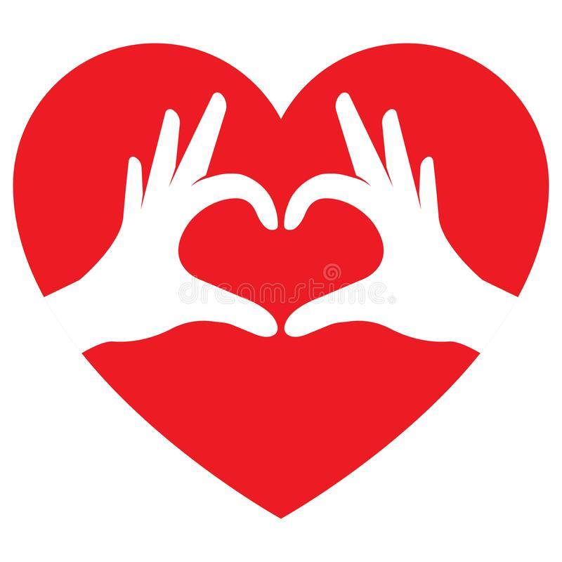 Hands Making Heart Shape Stock Illustrations.