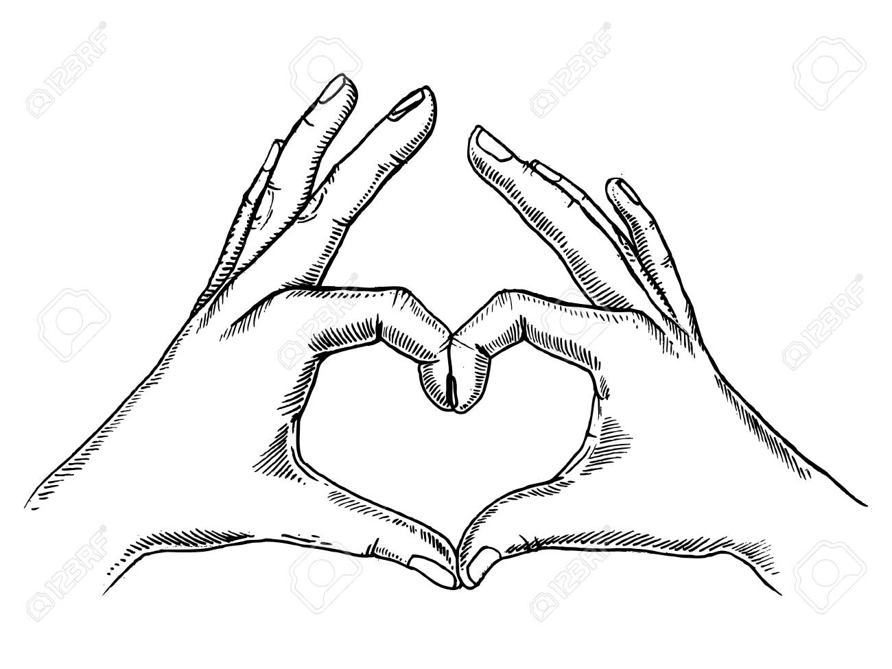 Hands making heart sign..