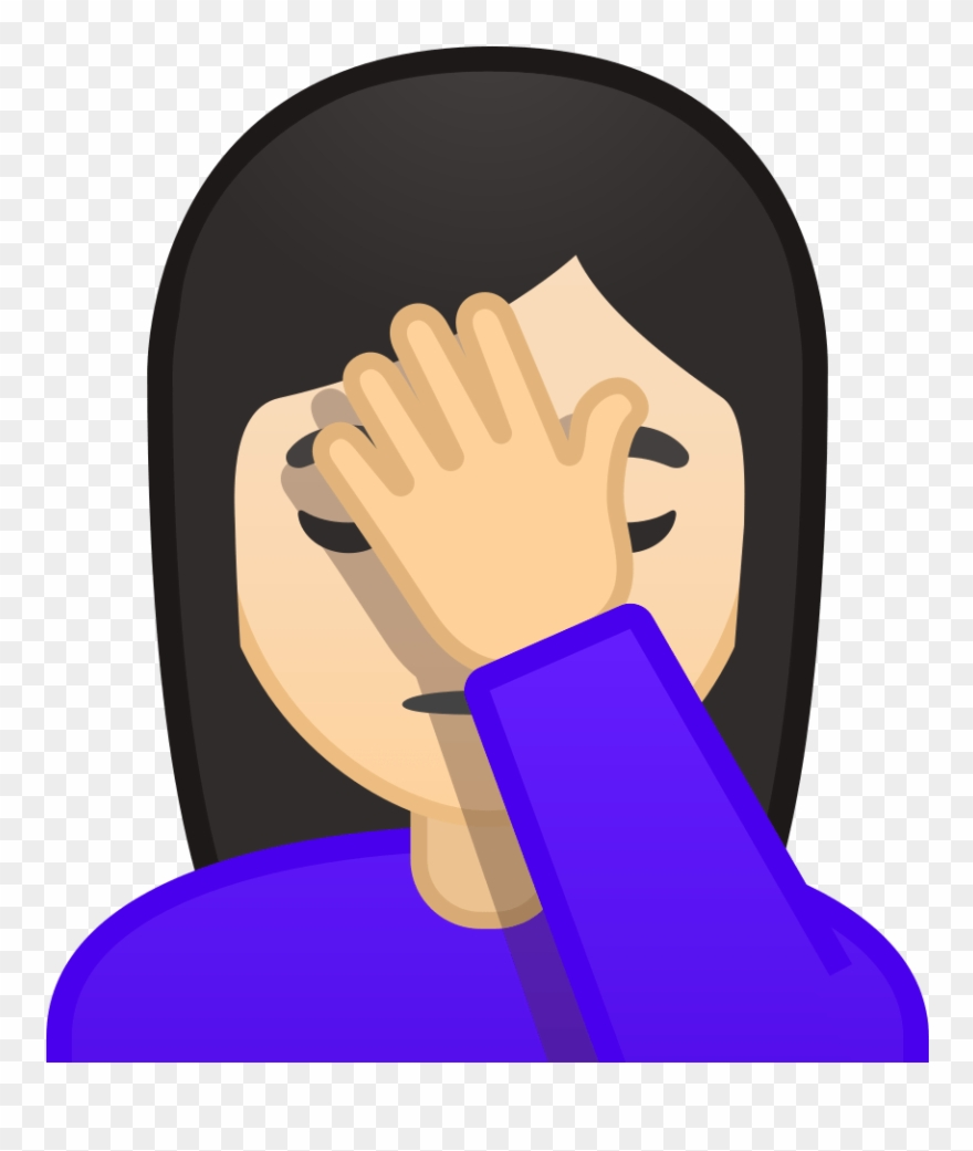 Transparent Facepalm Emoji.