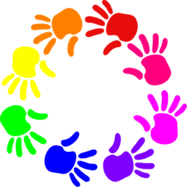 Hands on learning clipart.