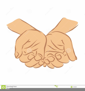 Hands Outstretched Clipart.