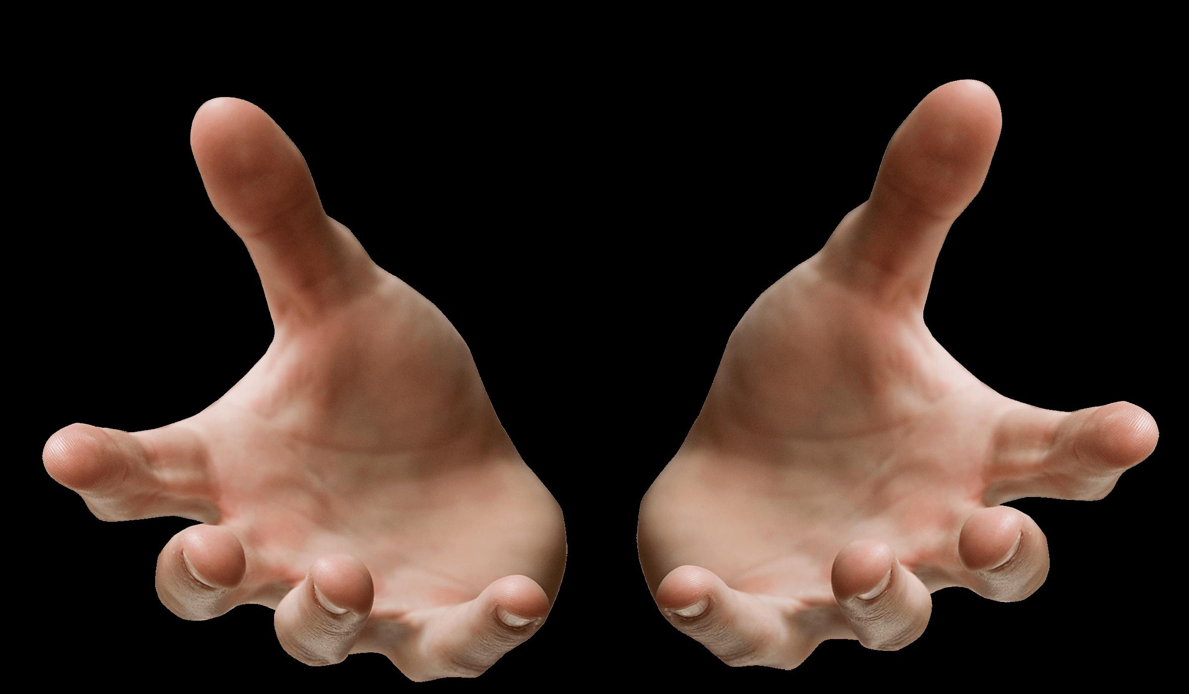 Hands Open Receiving transparent PNG.