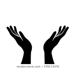 Open Hand Png Black And White & Free Open Hand Black And White.png.
