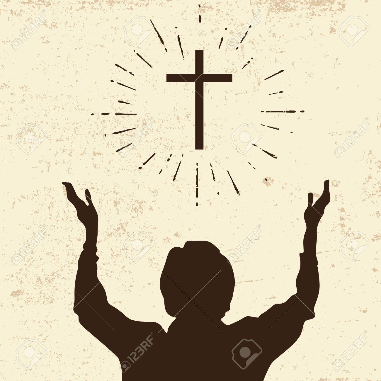 Raised hands in worship.