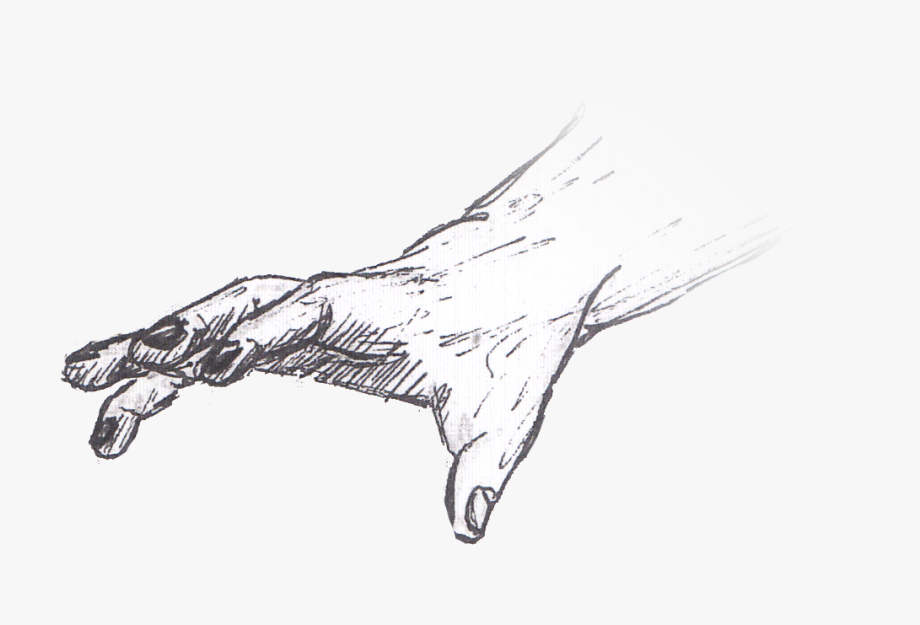 Hand Reaching Out Sketch.