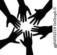 Hands Together Clip Art.