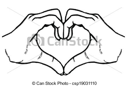 Hands with heart clipart 1 » Clipart Station.