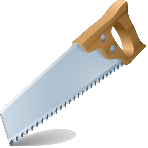 Hand Saw PNG Transparent Images.