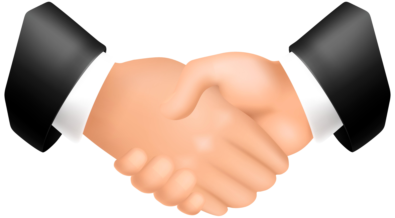 Online Hands Handshake Clipart PNG Image.