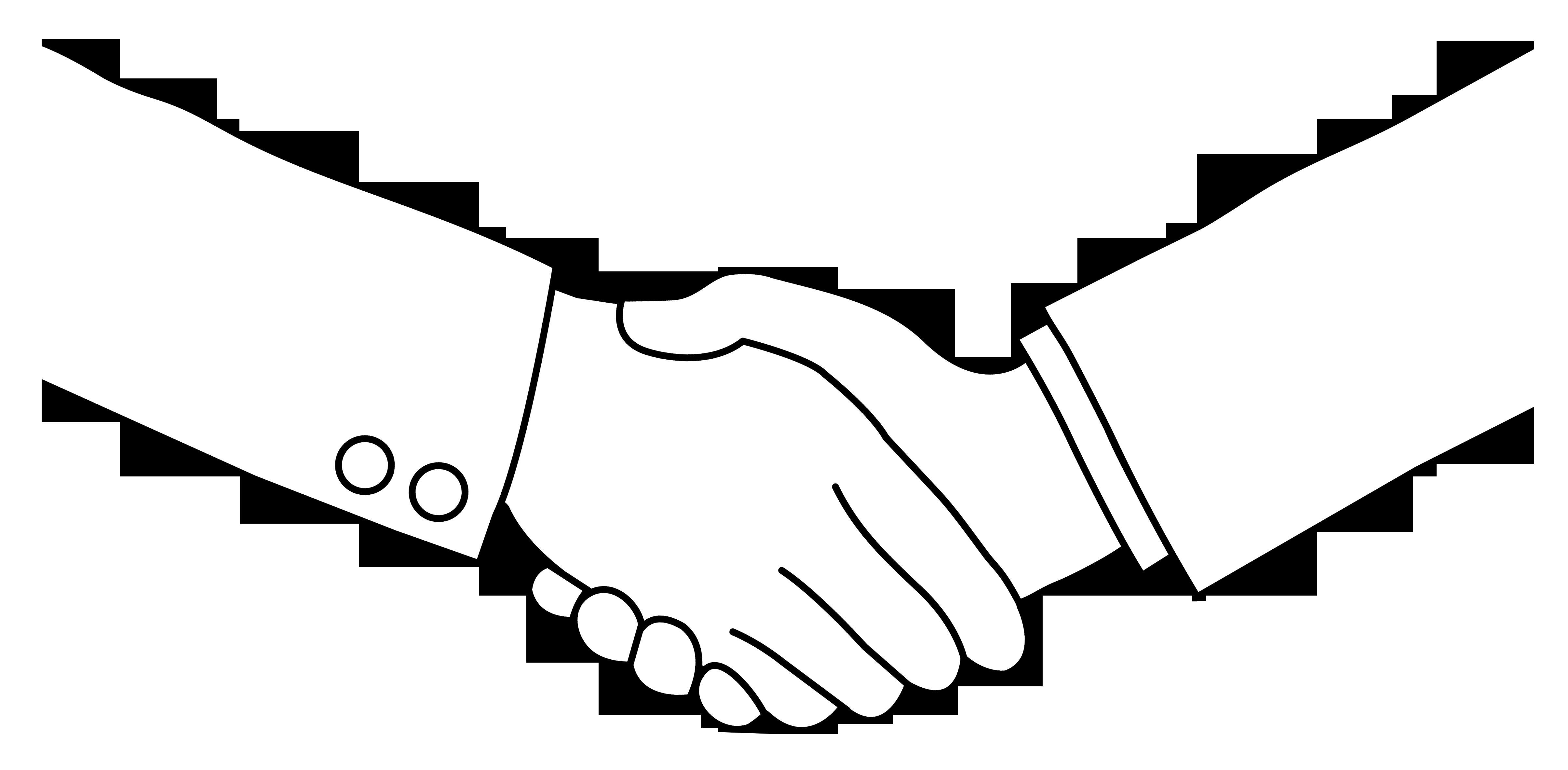 Free handshake kids free clipart.