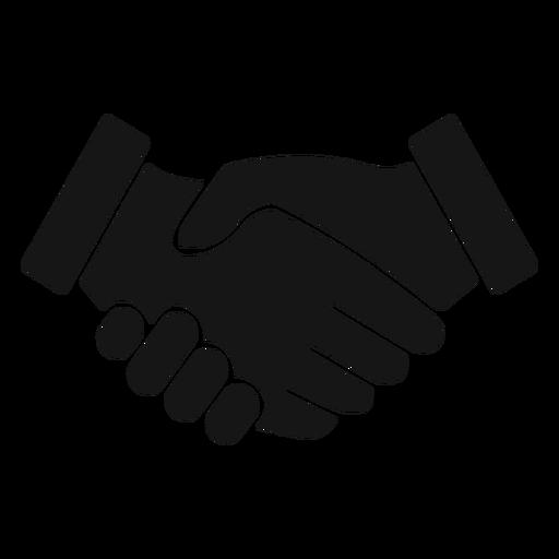 Handshake silhouette icon.