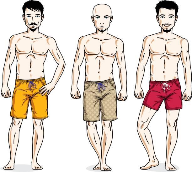 Handsome Male Models Clip Art Clip Art, Vector Images.
