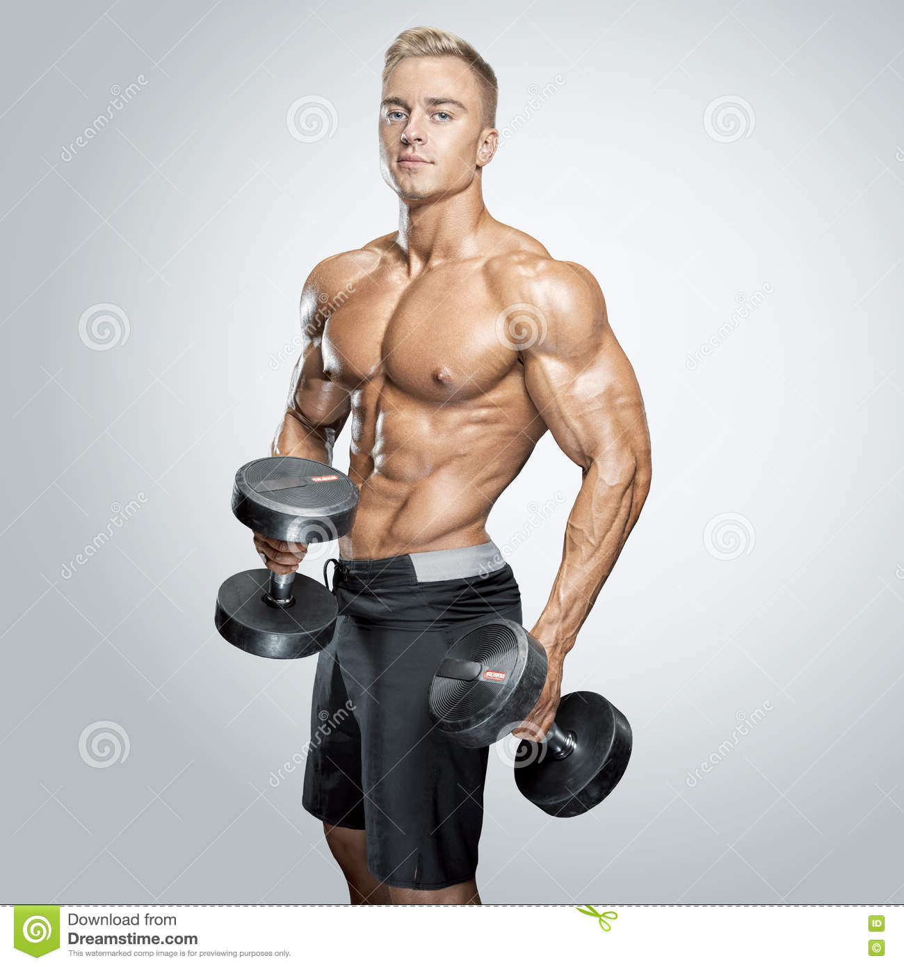 Handsome Athletic Guy Stock Photography.