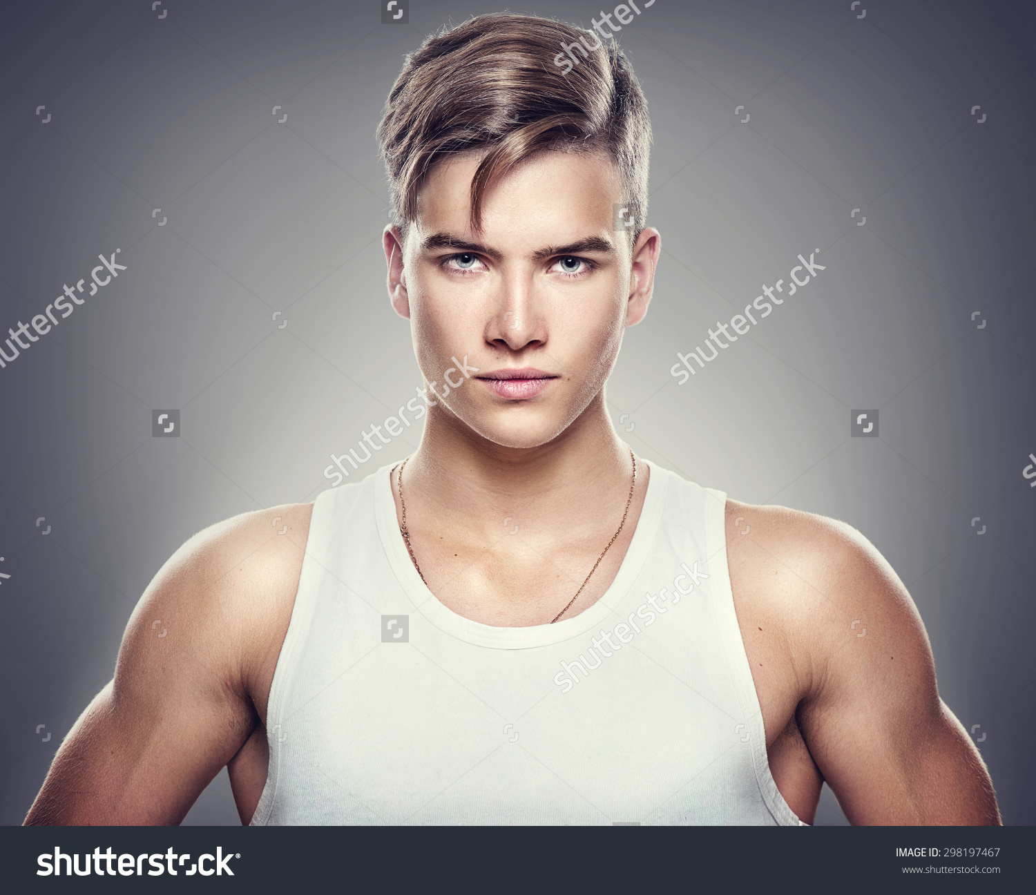 Handsome Athletic Young Man Isolated On Stock Photo 298197467.