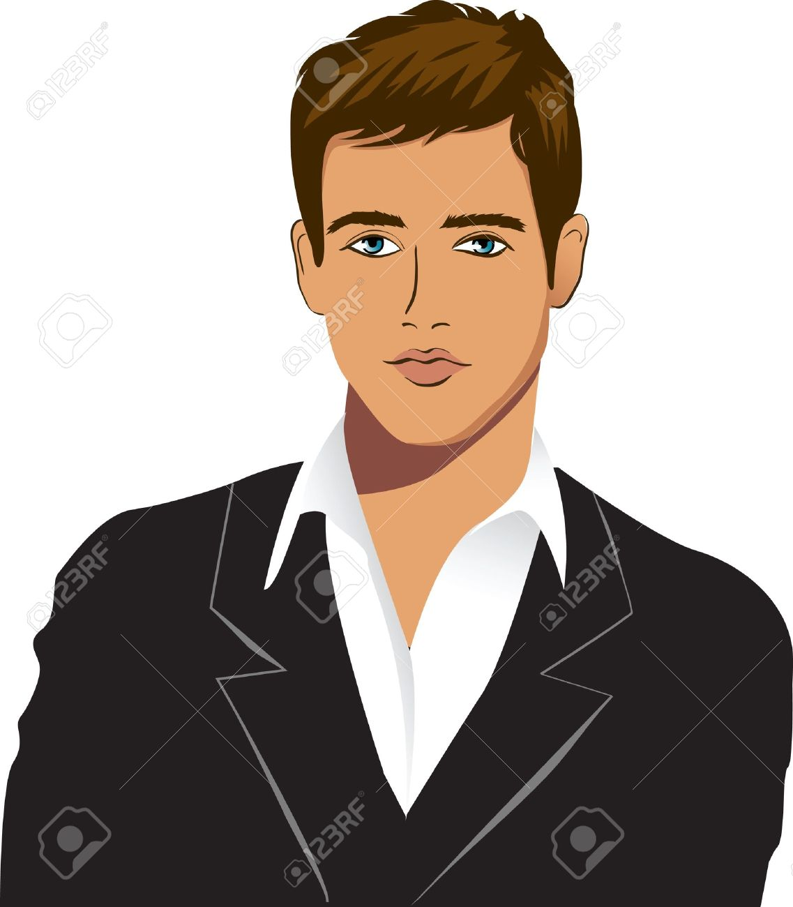 Free clipart handsome man.
