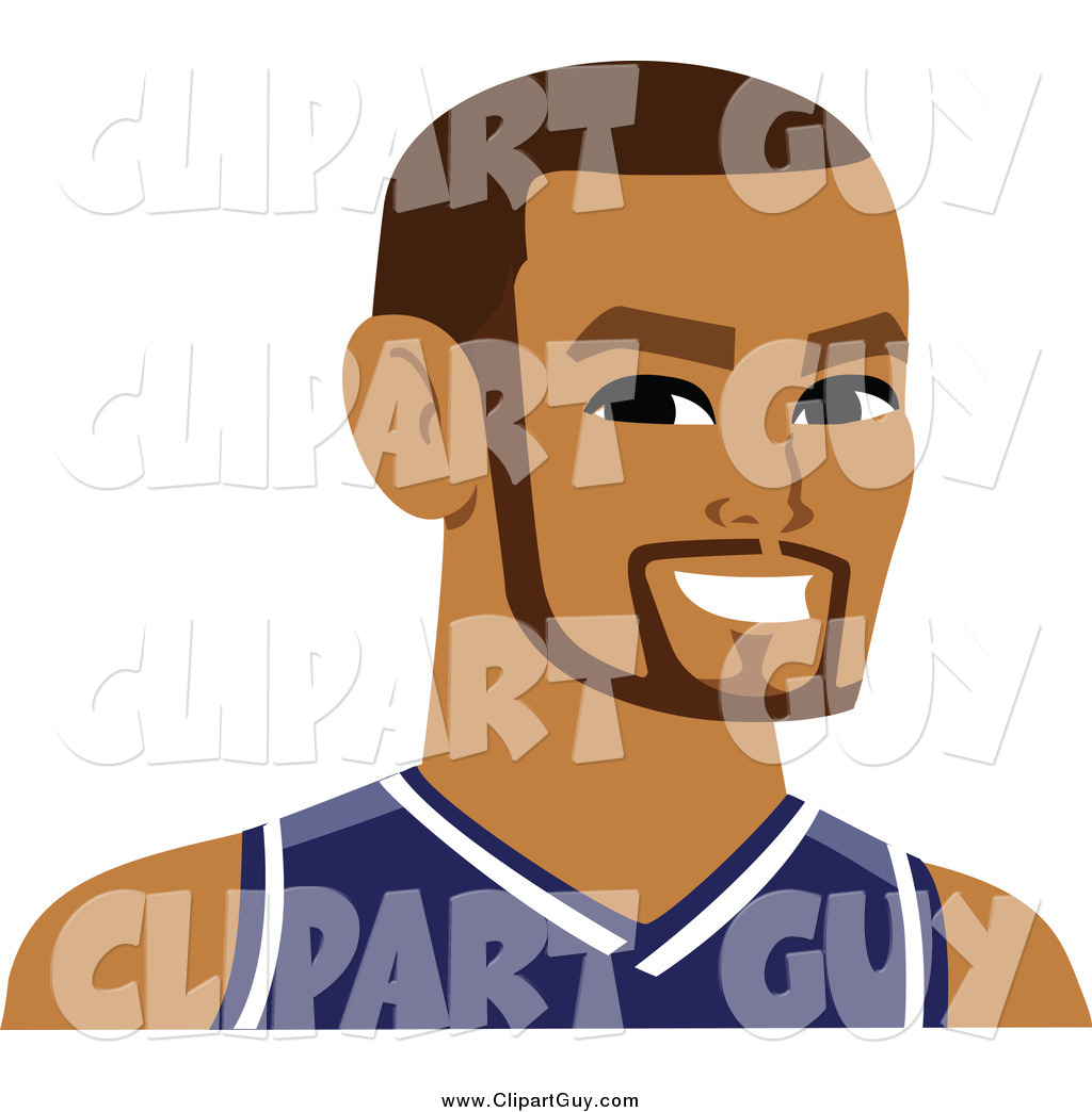 Clip Art of a Handsome Male Avatar Wearing a Jersey by Monica.