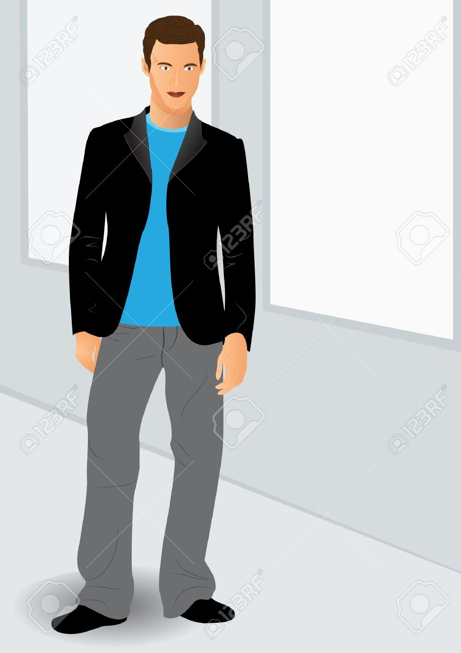 Handsome guy clipart.