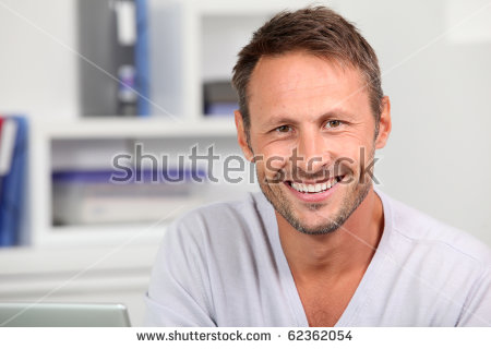 Handsome Man Smiling Stock Images, Royalty.