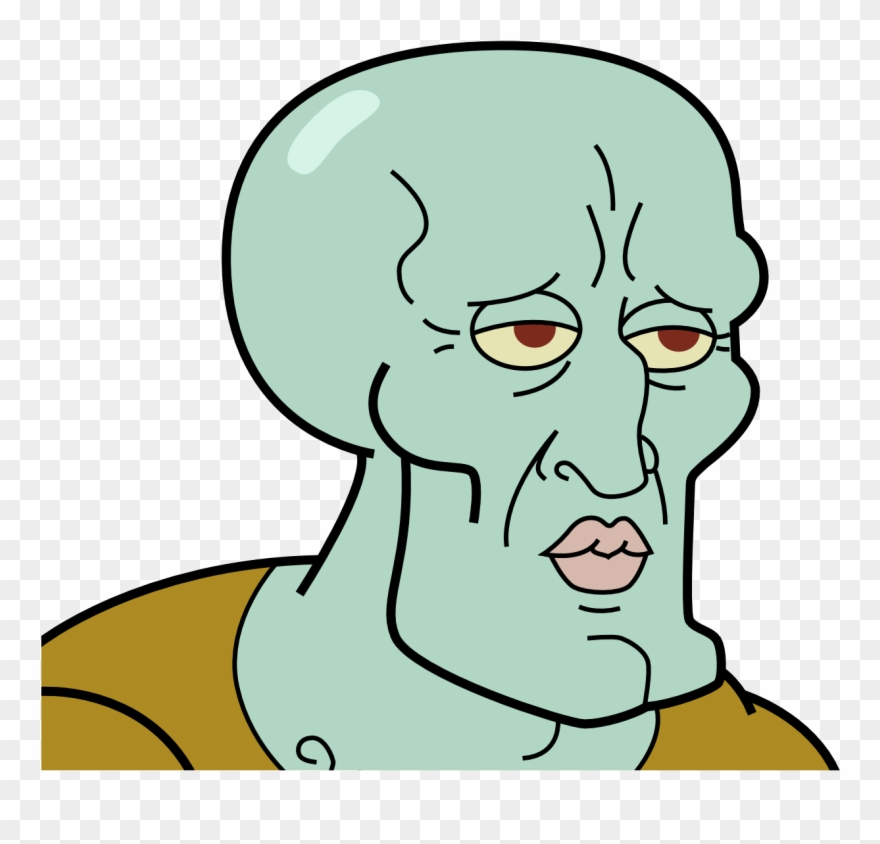 Handsome Squidward Clipart.