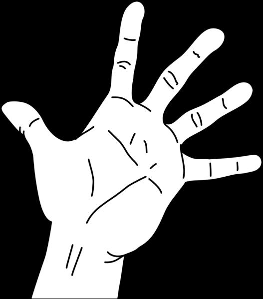 Finger clipart hand span, Finger hand span Transparent FREE for.