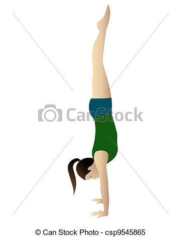 Handstand Stock Illustrations. 1,192 Handstand clip art images and.