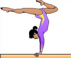 Free handstand Clipart.