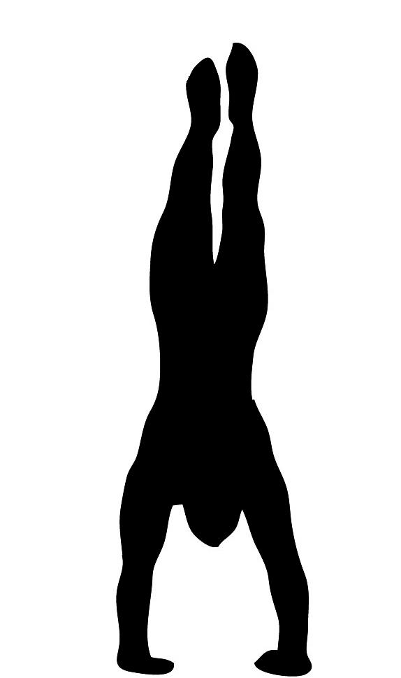 Gymnastics Handstand Silhouette.