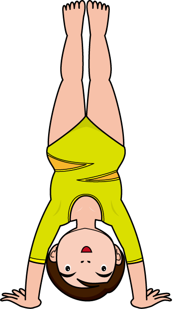 Clipart handstand.