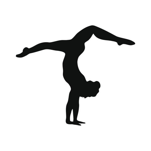 Gymnastics clipart silhouette handstand.