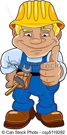 Vektor Illustration von handwerker.