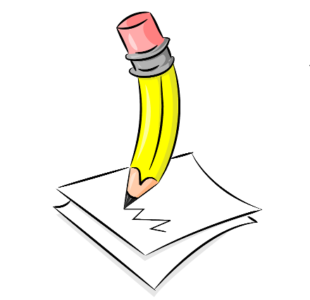 Pencil Writing Clipart.