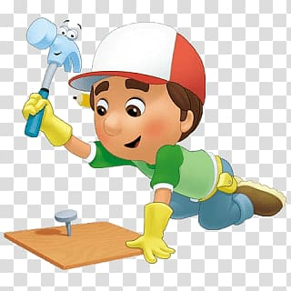 Handy Manny, Handy Manny Working transparent background PNG clipart.
