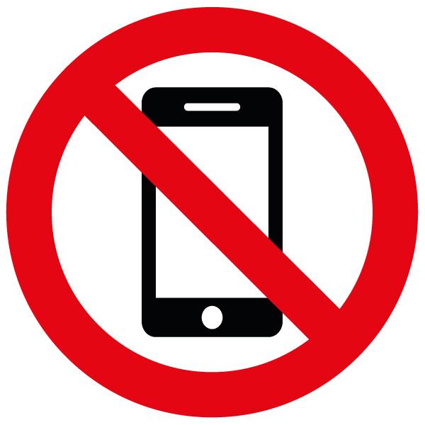 Aufkleber «Handy verboten» (Wetterfest).