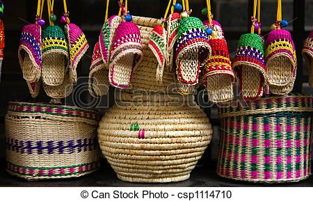 Stock Photography of Straw Handicrafts China.