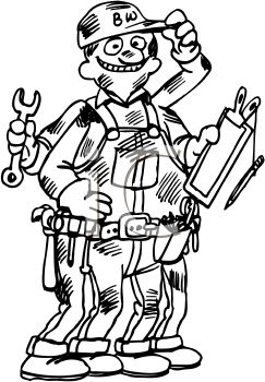 Handyman clipart black and white 1 » Clipart Station.