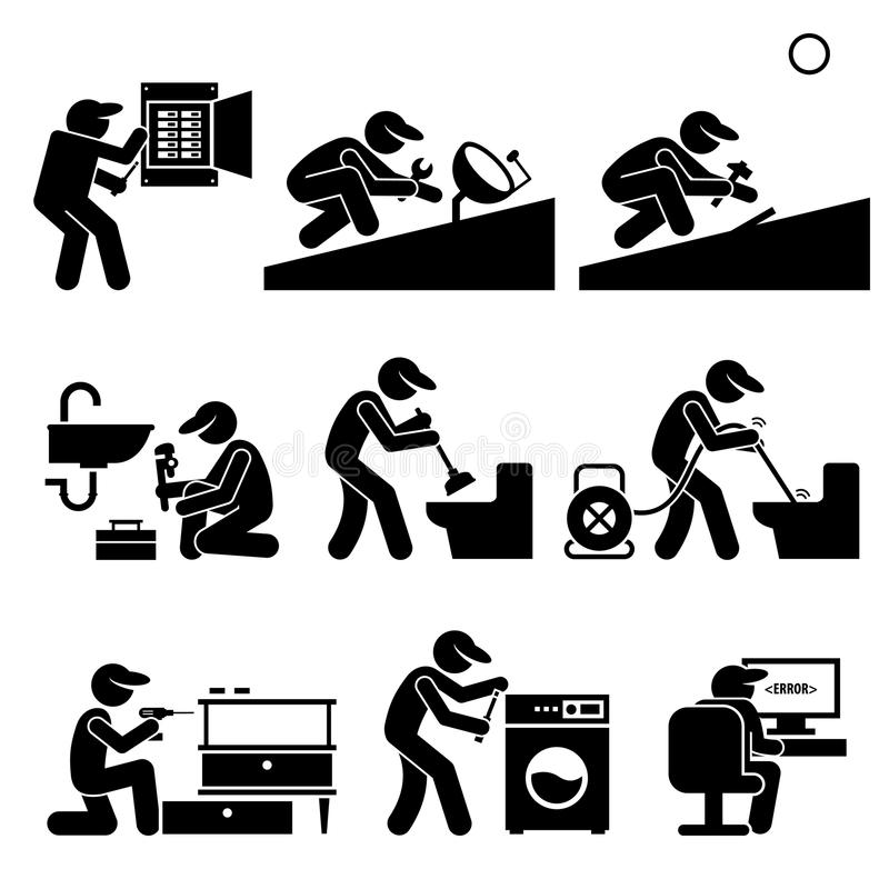 Handyman clipart black and white 6 » Clipart Station.