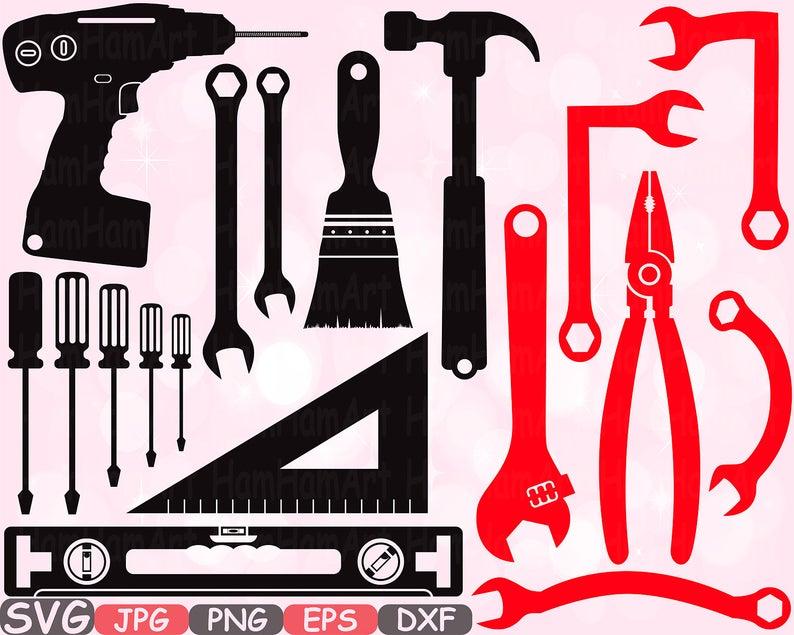 Mechanic Tools Silhouette SVG Cutting Files clipart Handyman color SVG  hammer tool designs science Tools svg bundle cricut vinyl cameo.