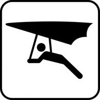 Hang Glider clip art Free Vector.
