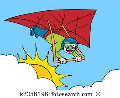 Hang glider Clip Art Illustrations. 491 hang glider clipart EPS.