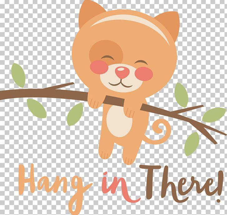 Hang In There PNG, Clipart, Art, Baby, Carnivoran, Cartoon, Cat Free.