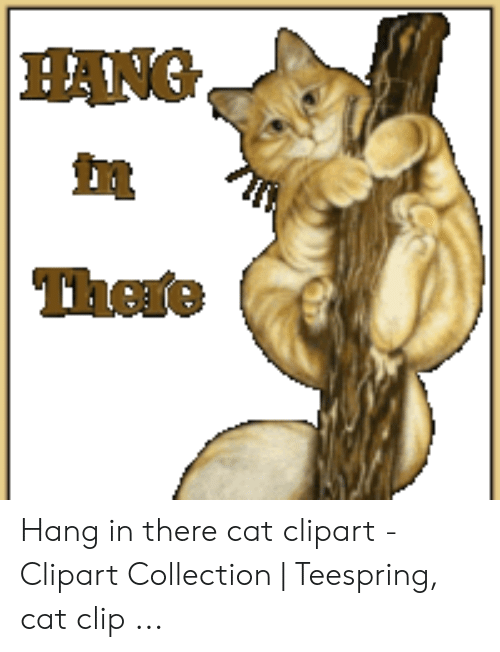 HANG Hang in There Cat Clipart.
