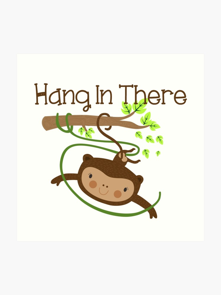 Wild Animals Monkey Hang in There.