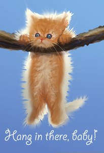 Cat Hang In There Clipart.
