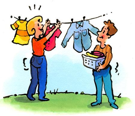 Hang Clothes Clip Art.