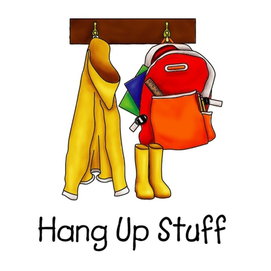 Hang Up Backpack Clip Art free image.