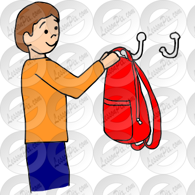 Hang Up Backpack Picture for Classroom / Therapy Use.